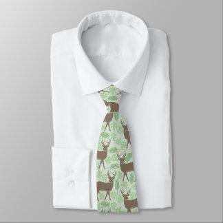 オオシカパターン緑の自然 ネクタイ