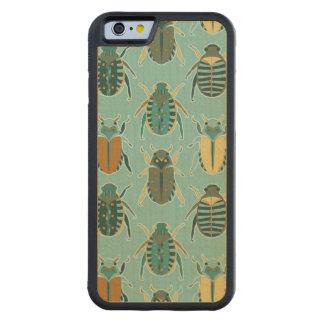 オオタマオシコガネのカブトムシパターン CarvedメープルiPhone 6バンパーケース