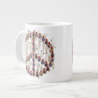 オオタマオシコガネのピースサイン ジャンボコーヒーマグカップ