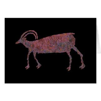 オオツノヒツジ、動物のイメージ1のカード カード
