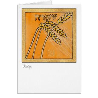 オオムギ、イスラエル共和国の7つの種の1 カード