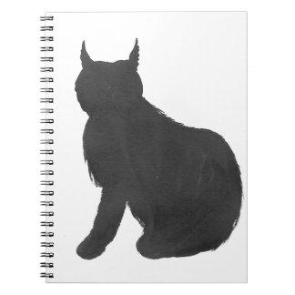 オオヤマネコのシルエット ノートブック