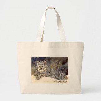 オオヤマネコのバッグ ラージトートバッグ