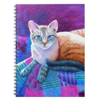 オオヤマネコポイントシャム猫 ノートブック