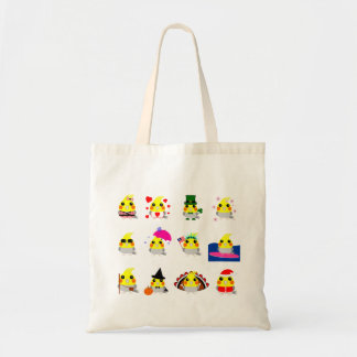 オカメインコのCockatielの鳥の休日のデザイン トートバッグ