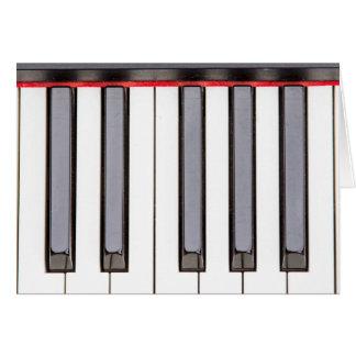 オクターブピアノブランクの挨拶状 グリーティングカード