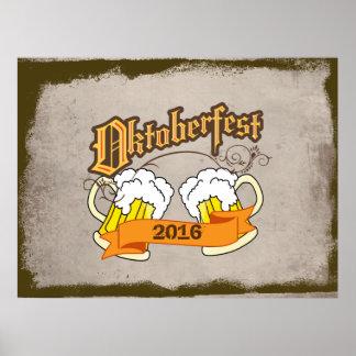 オクトーバーフェストのドイツのフェスティバルビールジョッキのタイポグラフィ ポスター