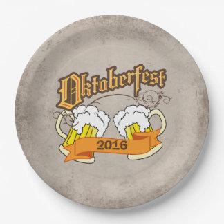オクトーバーフェストのドイツのフェスティバルビールジョッキTypograph ペーパープレート