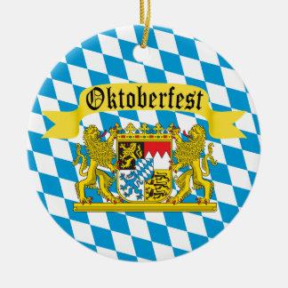 オクトーバーフェストのドイツのBierのフェスティバル セラミックオーナメント