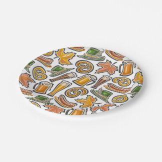 オクトーバーフェストのパーティーの商品の紙皿 ペーパープレート