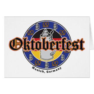 オクトーバーフェストのビールおよびプレッツェル カード