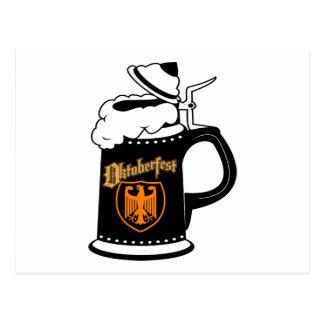 オクトーバーフェストのビールのジョッキ ポストカード