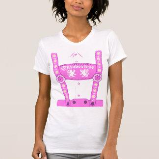 オクトーバーフェストのピンクのハーフパンツのTシャツ Tシャツ