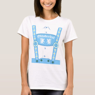 オクトーバーフェストの青いハーフパンツのTシャツ Tシャツ