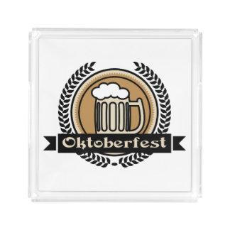 オクトーバーフェストビールアイコンかラベル アクリルトレー