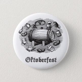 オクトーバーフェストビール及びプレッツェルボタン 缶バッジ