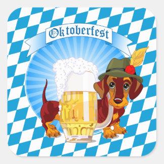 オクトーバーフェストビール猟犬 スクエアシール