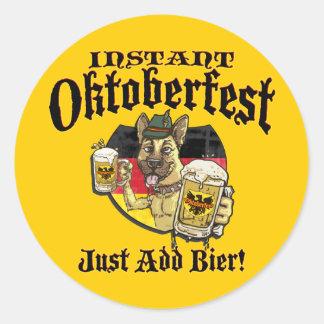 オクトーバーフェストビール猟犬 ラウンドシール