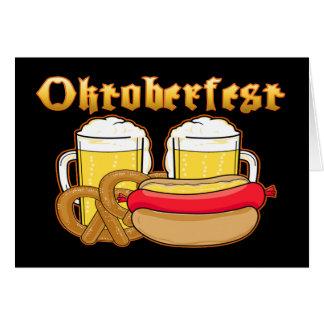 オクトーバーフェストビールBratwurstのプレッツェル カード