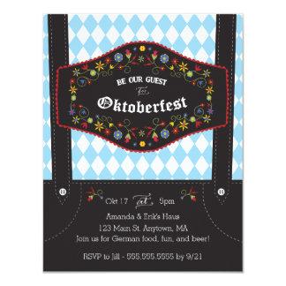 オクトーバーフェスト(Octoberfest)のドイツのパーティの招待状 10.8 X 14 インビテーションカード