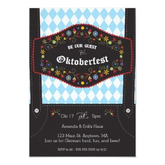 オクトーバーフェスト(Octoberfest)のドイツのパーティの招待状 12.7 X 17.8 インビテーションカード