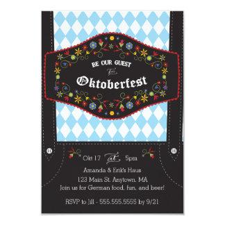 オクトーバーフェスト(Octoberfest)のドイツのパーティの招待状 8.9 X 12.7 インビテーションカード