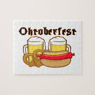 オクトーバーフェストBratwurst及びビール ジグソーパズル