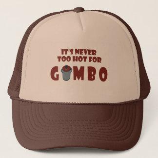 オクラのおもしろいなルイジアナの帽子のために決して余りに熱い キャップ
