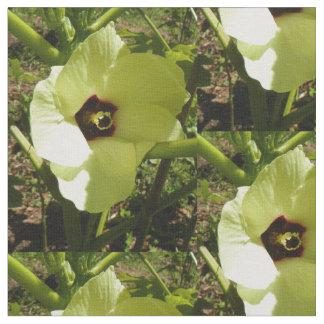 オクラの花 ファブリック