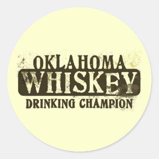 オクラホマのウィスキーの飲むチャンピオン ラウンドシール