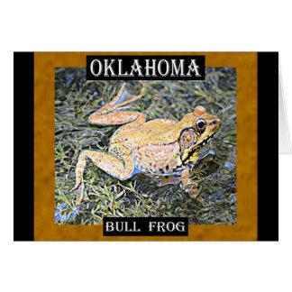 オクラホマのカエル(アメリカ人の牛蛙) カード