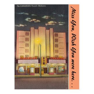 オクラホマのカナダの劇場、Purcell ポストカード