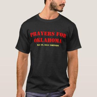 オクラホマのトルネードのための祈りの言葉 Tシャツ
