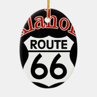 オクラホマのルート66の盾 セラミックオーナメント