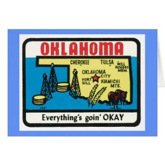オクラホマのヴィンテージのラベル カード