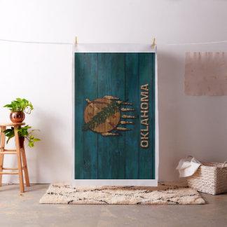 オクラホマの古い木製の一見のヴィンテージの州の旗 ファブリック