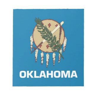 オクラホマの国家の旗が付いているメモ帳 ノートパッド