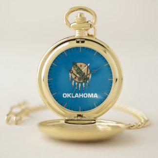 オクラホマの国家、米国の愛国心が強い壊中時計の旗 ポケットウォッチ