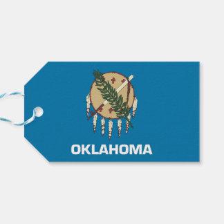 オクラホマの国家、米国の旗が付いているギフトのラベル ギフトタグ