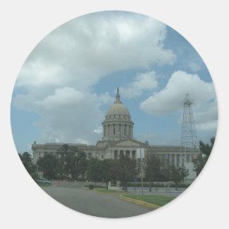 オクラホマの国家Capitail ラウンドシール