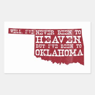 オクラホマの天国-赤 長方形シール