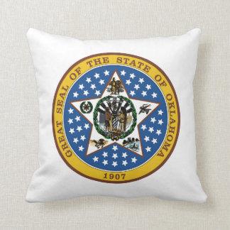 オクラホマの州のシールアメリカ共和国の記号の旗 クッション