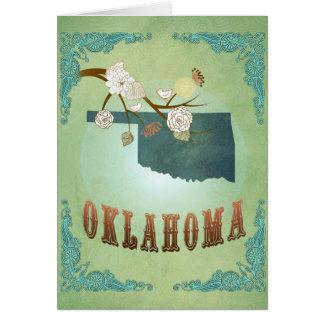 オクラホマの州の地図-緑 カード