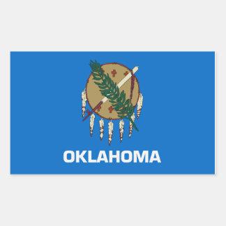 オクラホマの州の旗のステッカー 長方形シール