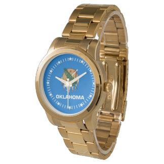 オクラホマの州の旗の腕時計のデザイン 腕時計