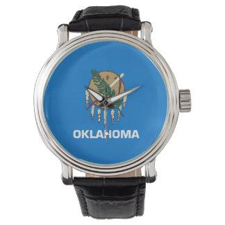 オクラホマの州の旗統一されたなアメリカ共和国の記号 腕時計