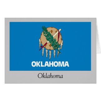 オクラホマの州の旗 カード