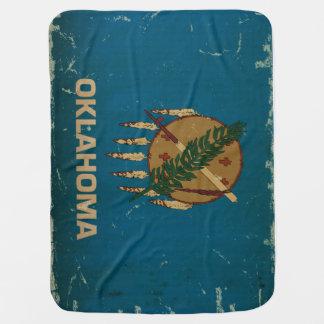 オクラホマの州の旗VINTAGE.png ベビー ブランケット
