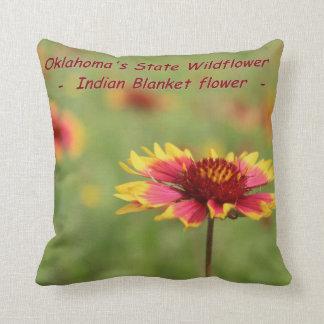オクラホマの州の野生の花の枕 クッション