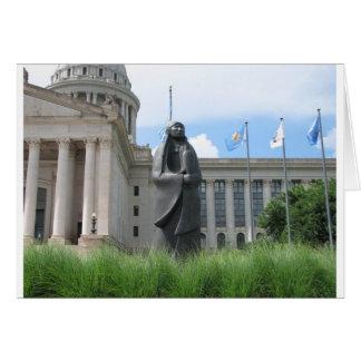 オクラホマの州都の彫像 カード